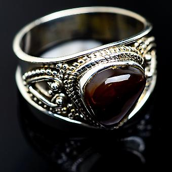 Mexicain Fire Agate Ring Size 9 (925 Sterling Silver) - Bijoux Boho Vintage ring987713