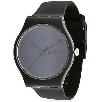 Swatch SUOB702 Maschio Nero Gomma 41MM Quartz Orologio analogico
