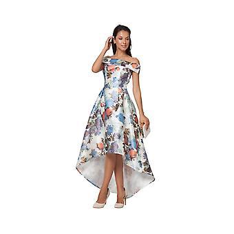 Goddiva Floral Offshoulder Maxi Dress