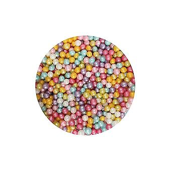 Paarse cupcakes 4mm Shimmer parels-multi-80g