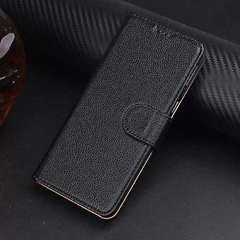 For Samsung Galaxy Note 8 Case,Fashion Elegant Genuine Leather Cover,Black