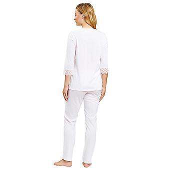 Rösch 1884135-11710 Frauen's Neue Romantik Weiß Pyjama Set