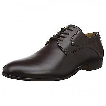 Hudson Craigavon Leather Brown Derby Shoe