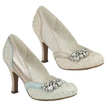 Ruby Shoo Women's Fabia Jewelled Brocade Court Shoe