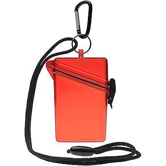 Witz houden duidelijk lichtgewicht waterdichte Sport Case - rood