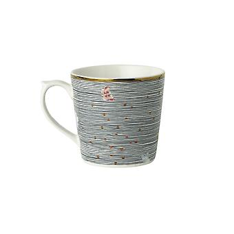 Laura Ashley Mini Mug, Midnight Pinstripe