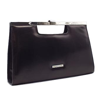 Peter Kaiser Wye Classic Occasion Leather Clutch Bag In Black