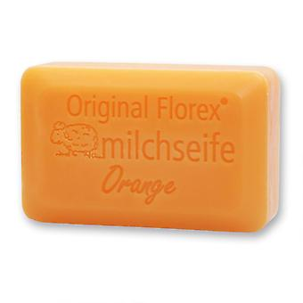 Savon au lait de brebis Florex - Orange Luxury - avec un parfum d'orange fruité pétillant 100 g