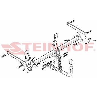 Automatyczny odłączany pasek holowniczy Steinhof (pionowy) dla Mazdy 3 Saloon 2013-2018