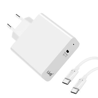 USB Type C Wandlader met 45W Power Delivery Quick Charge 3.0- LinQ, Wit