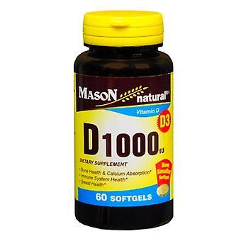 Mason natural vitamin d, 1000 iu, softgels, 60 ea