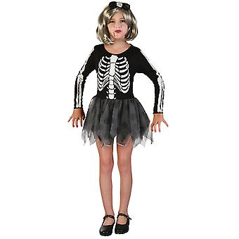 Bristol Novelty Girls Skeleton Costume