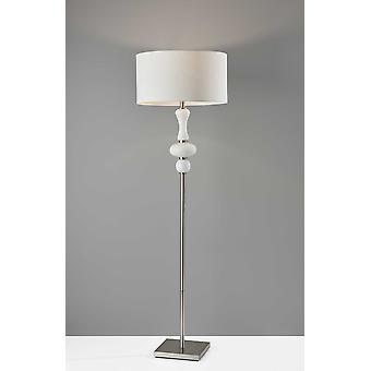 Spherule Milky White Glass Floor Lamp