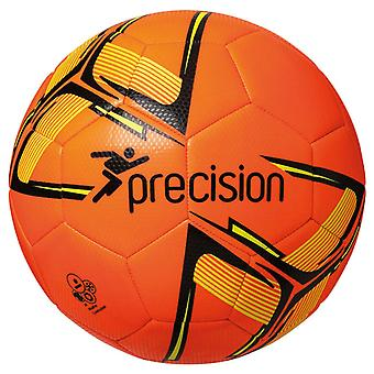 Precision Fusion Recreational Match Training Football Ball Orange/Black/Yellow