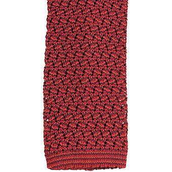 Corbata de seda KJ Beckett Suzy Chevron - naranja vino/rojo/quemado