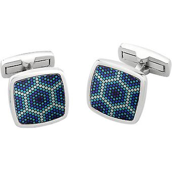 Duncan Walton Amparo Luxury Enamel Cufflinks - Blue