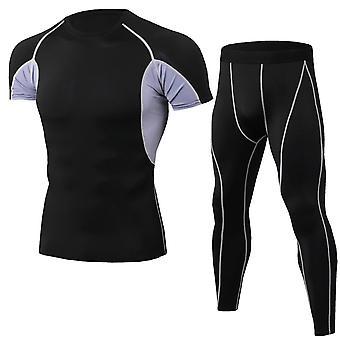 Allthemen Muži & apos; s Stretch Fit krátký rukáv sportovní oblek