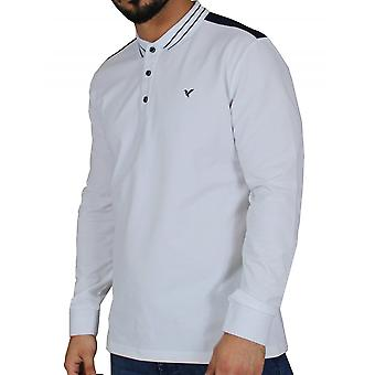 D-ROCK Kenton Polo Shirt White And Navy