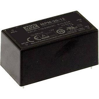 Mittelwert MPM-20-24 AC/DC Netzteil (Druck) 24 V DC 0.9 A 21.6 W