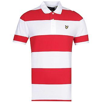 Lyle & Scott Wide Stripe Gala rot Polo Shirt