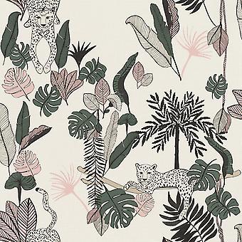 Club Botanique Léopard Fond d'écran Rose Rasch 540338