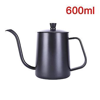Drip Kettle 350ml / 600ml Coffee Tea Pot Teflon / Non Stick Food Grade Stainless Steel - Gooseneck Drip Kettle Swan Neck Thin Mouth