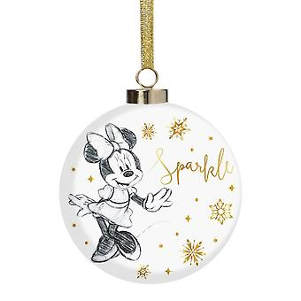 Disney Minnie Mouse Sparkle Collectible Xmas Bauble