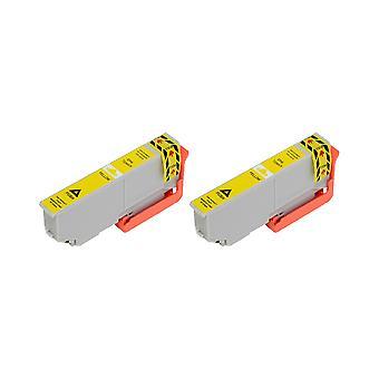 RudyTwos 2 x repuesto para unidad de tinta Epson 33XL(Orange) amarillo Compatible con expresión Premium XP-530 540 XP, XP-630, XP-635, XP-640, 645 XP, XP-830, XP-900