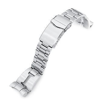 Strapcode Uhr Armband 22mm retro Rasierer 316l Edelstahl Uhr Armband für tud bb 79230, gebürstet V-Verschluss
