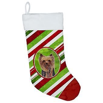 Yorkie Candy Cane Holiday Christmas  Christmas Stocking SC9325
