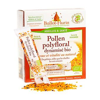 Organic polyfloral pollen 21 units of 6g