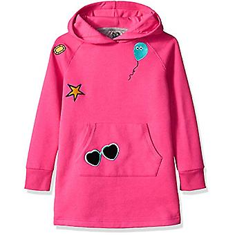 Brand - Spotted Zebra Girls' Big Kid Fleece Long-Sleeve Hooded Dress, ...