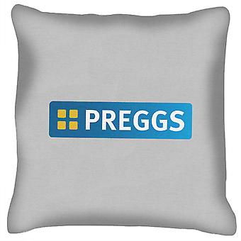 Preggs Pregnancy Greggs The Baker Logo Cushion