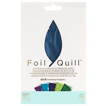 We R Memory Keepers Foil Sheets 4x6 Inch Peacock (30pcs) (660673)