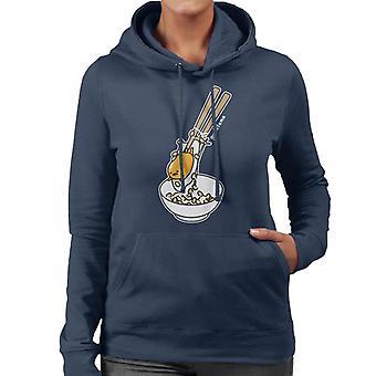 Gudetama gevangen in eetstokjes Women's Hooded Sweatshirt