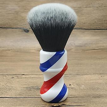 Tuxedo Synthetic Hair Knots Barber Pole Handle Shaving Brush