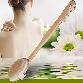 Natural Long Din lemn Body Perie Masaj Baie Duș Spate Spa Scruber, Naturale
