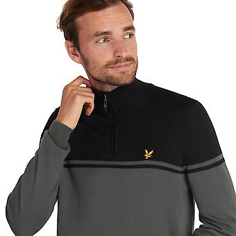 Lyle & Scott Mens Croft waterbestendig 1/4 Zip Golf Pullover Sweater