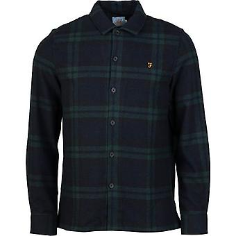 Farah Drummond Checked Flannel Over Shirt