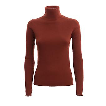 Pinko 1g15j2y6rll48 Kvinder's Brun uld sweater
