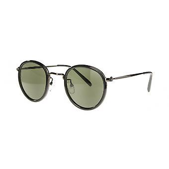 Sunglasses Unisex Cat.3 black green (AMU19202 A)