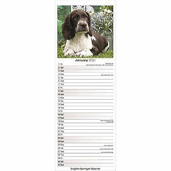 Otter House 2021 Slim Calendar-english Springer Spaniel