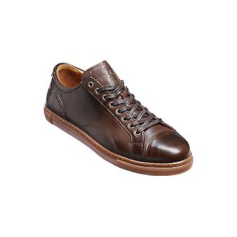 Barker Ethan - Ebony Hand Painted  | Mens Handmade Leather Sneakers | Barker Shoes