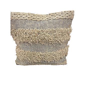 Spura Home Comfortable Board Style Beige Moroccan Pillows 18x18
