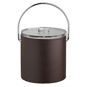 Contempo Brown 3Qt. Ice Bucket With Thick Lucite, Bale Handle, No Trim