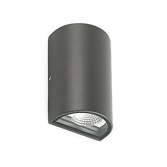 Faro Lace - LED udendørs op ad væg lys mørkegrå IP54
