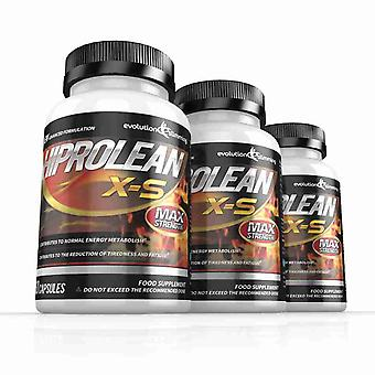 Hiprolean X-S High Strength Fat Burner - 180 Capsules (3 Bottles) - High Strength Fat Burner - Evolution Slimming