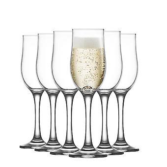 LAV Nevakar Glass Champagne Tulipans - 195ml - Pack de 6 Champagne Flutes Sparkling Wine Glasses