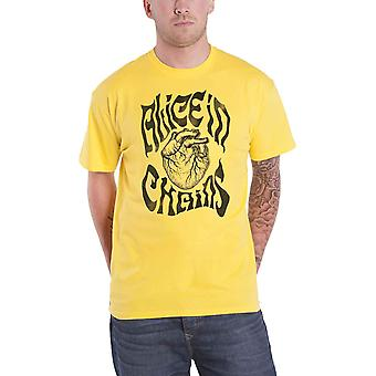 Alice in Chains T Shirt Transplant Band Logo nouveau officiel Mens Yellow