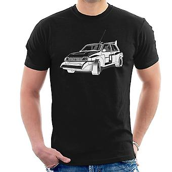 MG Metro 6R4 Zwart-Wit British Motor Heritage Men's T-Shirt